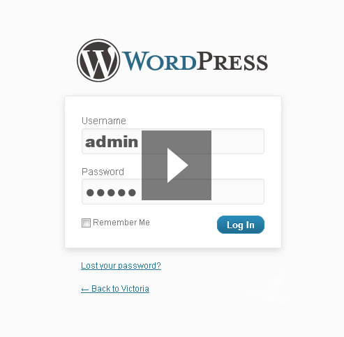 WordPress Template Victoria